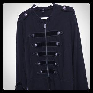 Torrid black majorette style jacket